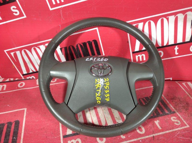 Руль Toyota Premio ZRT261 3ZR-FAE 2007 коричневый