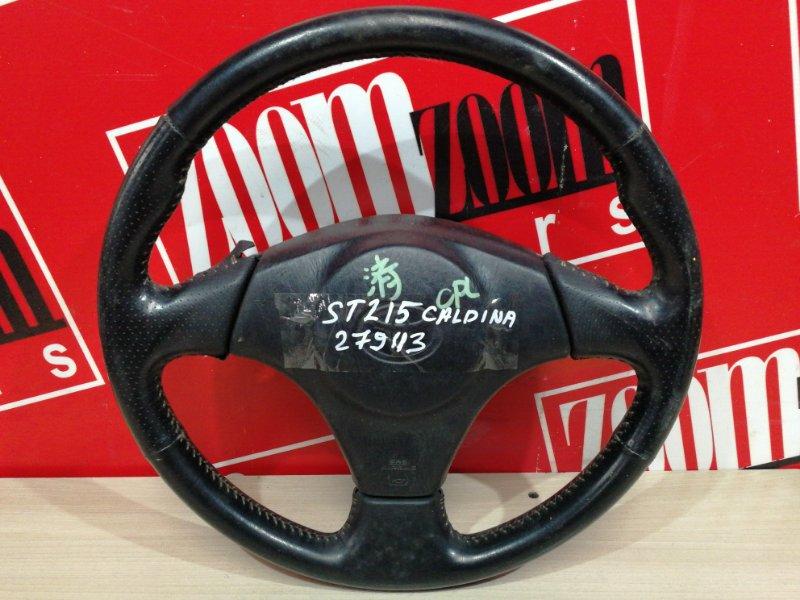 Руль Toyota Caldina ST215G 3S-FE 1999 черный