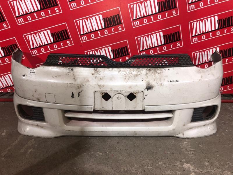 Бампер Toyota Sienta NCP81 1NZ-FE 2003 передний белый перламутр