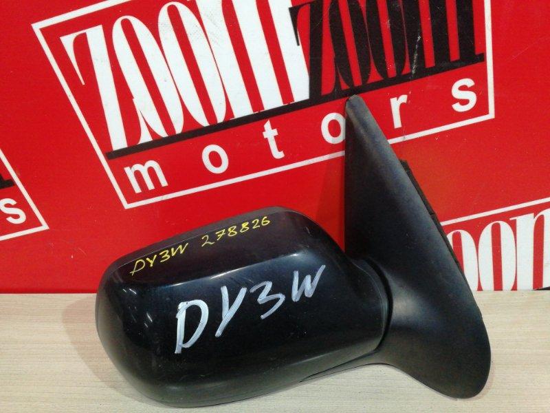 Зеркало боковое Mazda Demio DY3W ZJ-VE 2002 правое черный