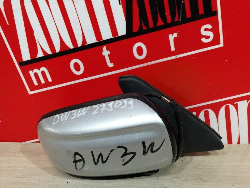 Зеркало боковое Mazda Demio DW3W B3 1996 правое серебро