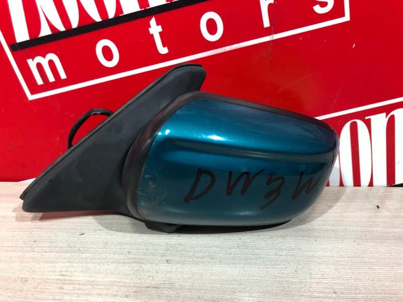 Зеркало боковое Mazda Demio DW3W B3 1996 левое зеленый