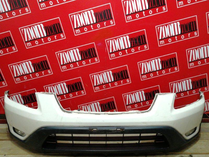 Бампер Honda Cr-V RD5 K20A 2001 передний белый перламутр