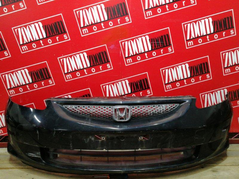 Бампер Honda Fit GD1 L13A 2004 передний черный