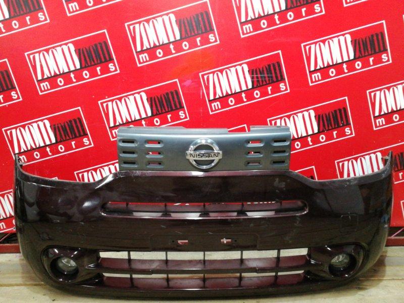 Бампер Nissan Cube Z12 HR15DE 2008 передний коричневый