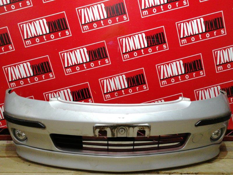 Бампер Toyota Ist NCP61 1NZ-FE 2002 передний серебро
