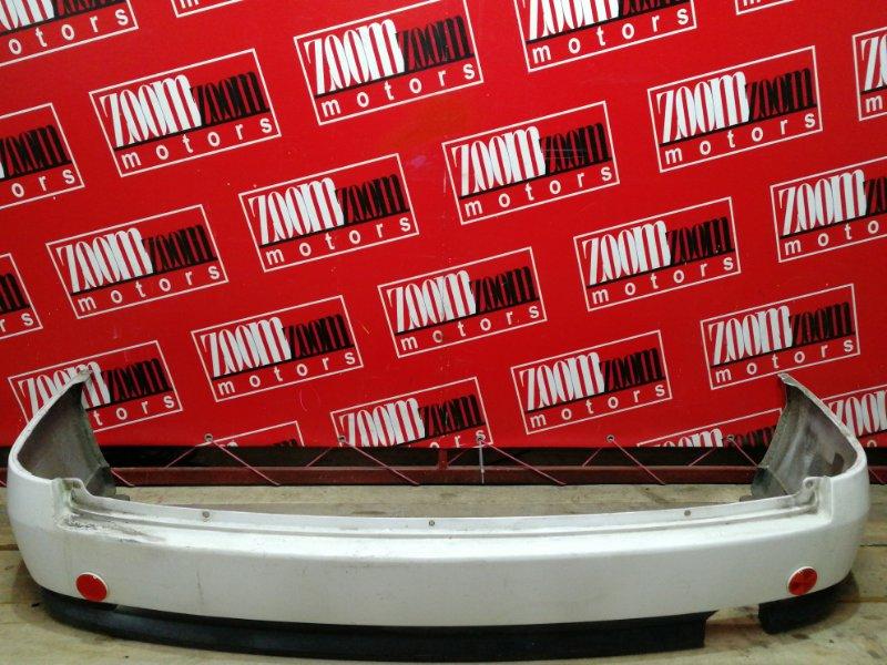 Бампер Nissan Wingroad WFY11 QG15DE 2001 задний белый