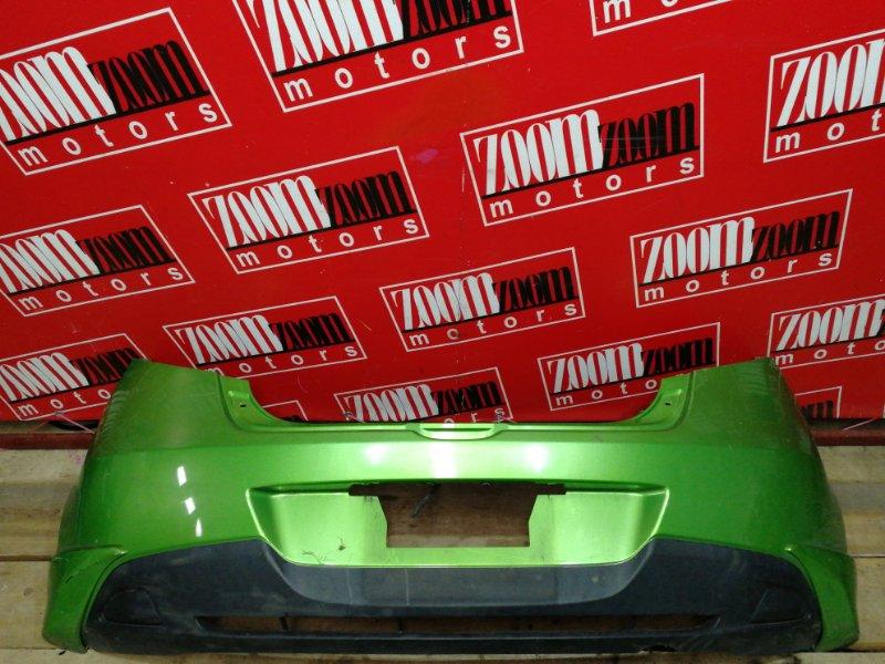 Бампер Mazda Demio DE3FS ZJ-VE 2007 задний зеленый