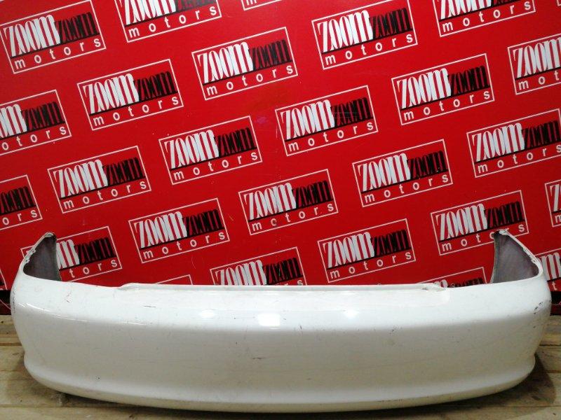 Бампер Toyota Platz SCP11 1SZ-FE 2002 задний белый