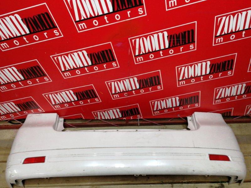 Бампер Mitsubishi Dion CR9W 4G63 2000 задний белый перламутр