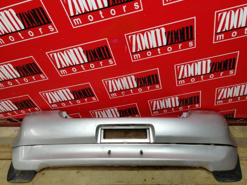 Бампер Toyota Vitz SCP10 1SZ-FE 1999 задний серебро