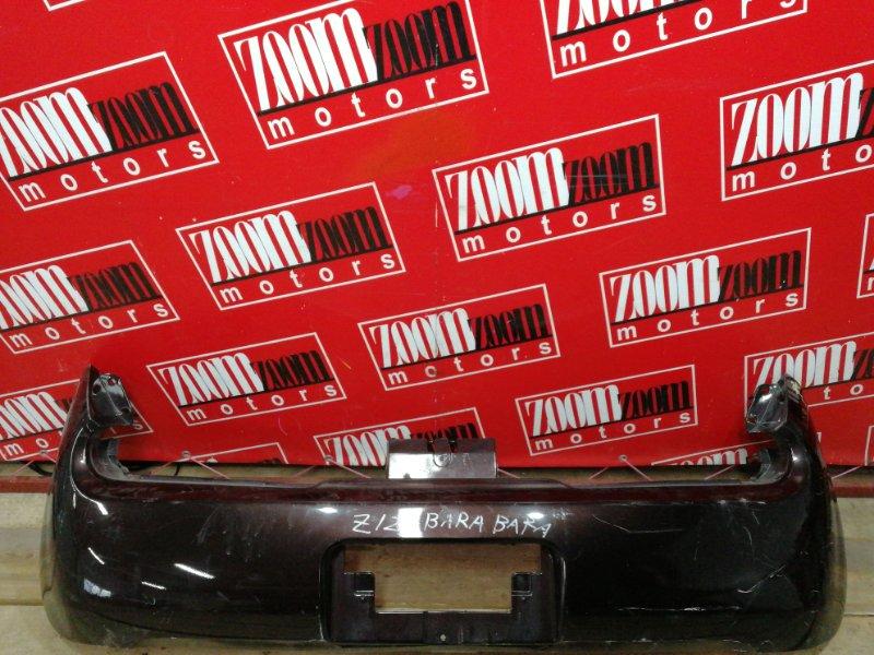Бампер Nissan Cube Z12 HR15DE 2008 задний коричневый