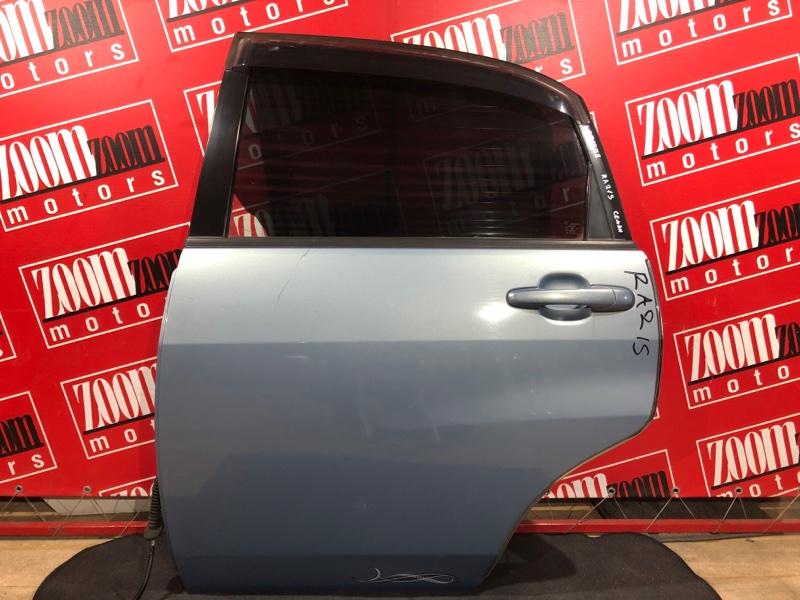 Дверь боковая Suzuki Aerio RA21S M13A 2000 задняя левая голубой