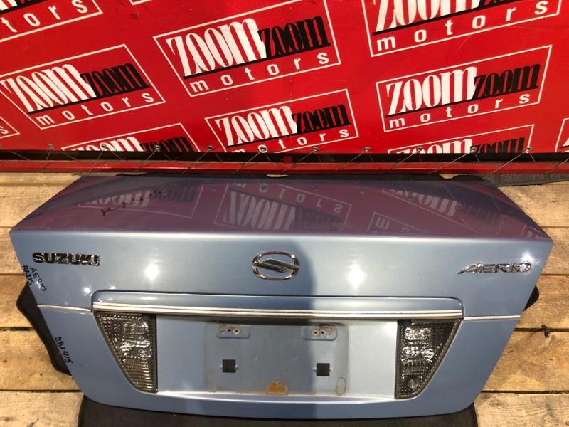 Крышка багажника Suzuki Aerio RA21S M15A 2001 задняя голубой