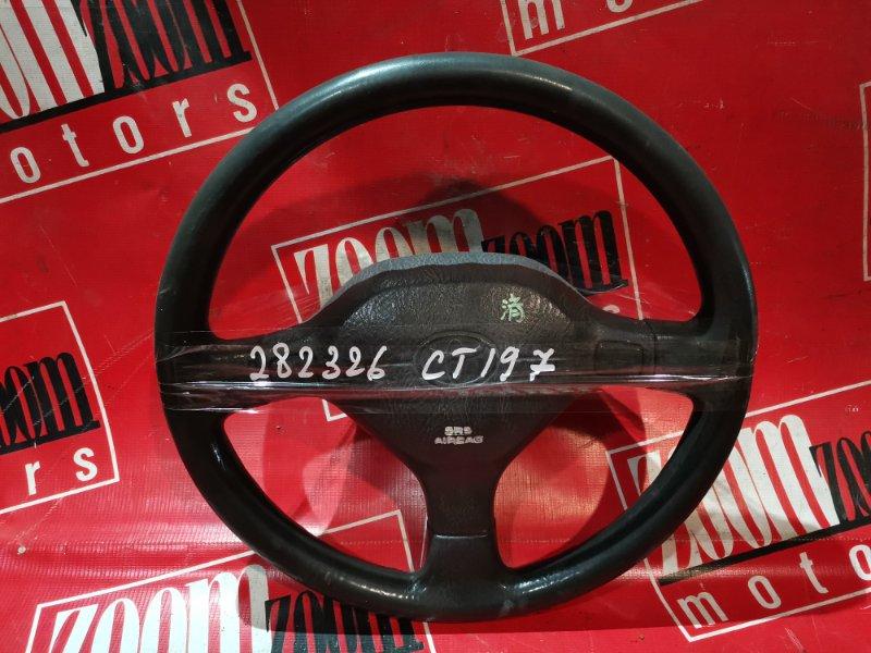 Руль Toyota Caldina CT190 2C 1992 черный