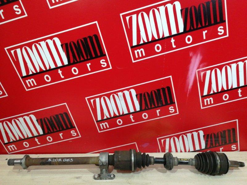 Привод Honda Edix BE3 K20A 2004 передний правый
