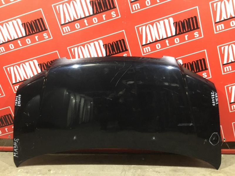 Капот Suzuki Wagon R Solio MA34S M13A 1999 передний черный