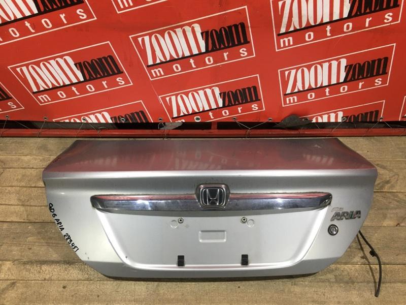 Крышка багажника Honda Fit Aria GD6 L15A 2005 задняя серебро