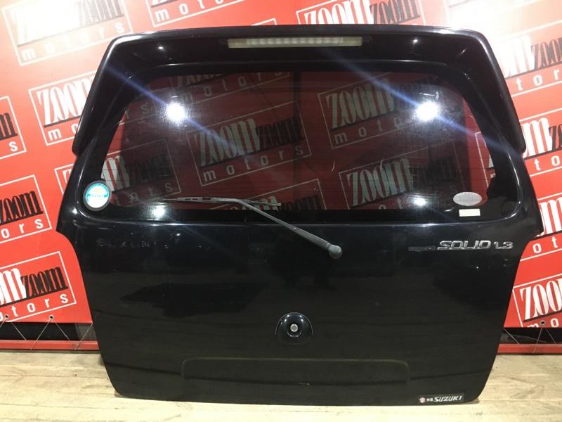 Дверь задняя багажника Suzuki Wagon R Solio MA34S M13A 1999 задняя черный