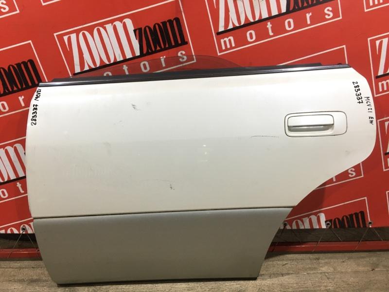 Дверь боковая Toyota Windom MCV21 2MZ-FE 1996 задняя левая белый перламутр