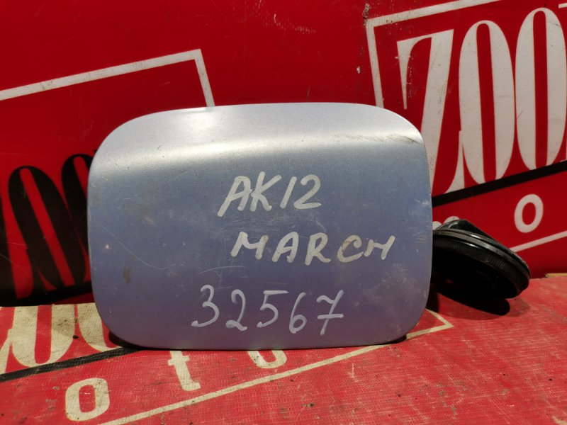 Лючок топливного бака Nissan March AK12 2002 голубой