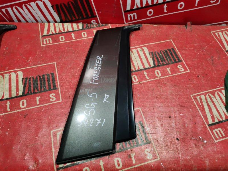 Накладка двери Subaru Forester SG5 2002 задняя правая черный