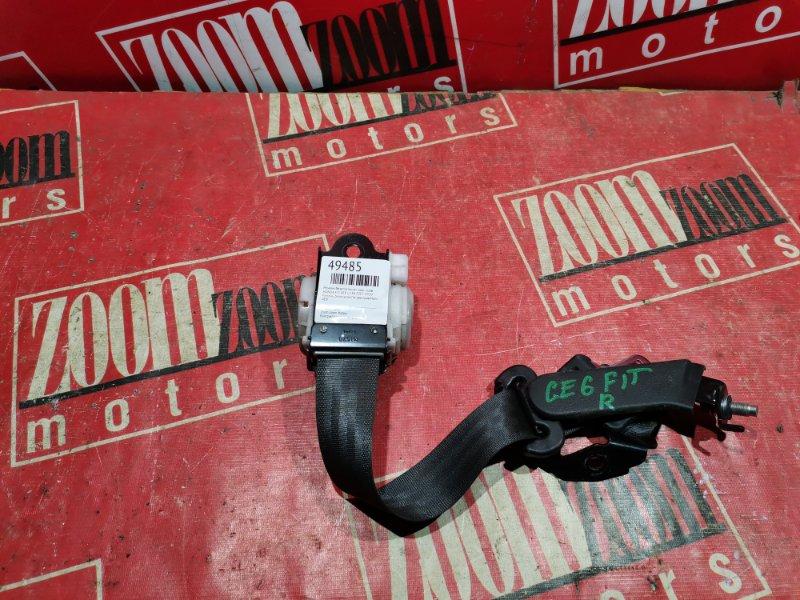 Ремень безопасности Honda Fit GE6 L13A 2007 задний правый