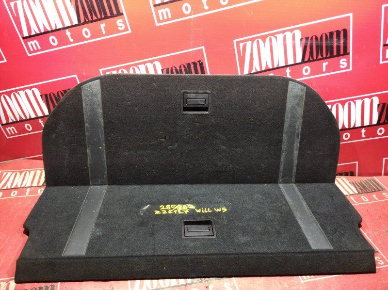 Обшивка багажника Toyota Will Vs ZZE127 1ZZ-FE 2001 задняя черный