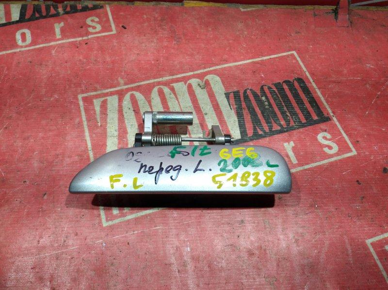 Ручка наружная Honda Fit GD1 L13A 2001 передняя левая серебро