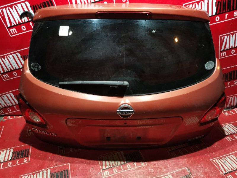Дверь задняя багажника Nissan Qashqai J10 MR20DE 2006 задняя оранжевый