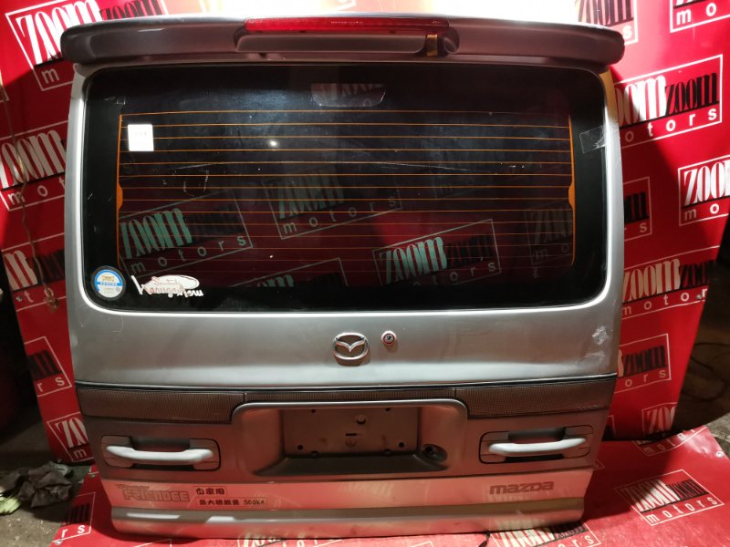 Дверь задняя багажника Mazda Bongo Friendee SG5W F8 1995 задняя серебро