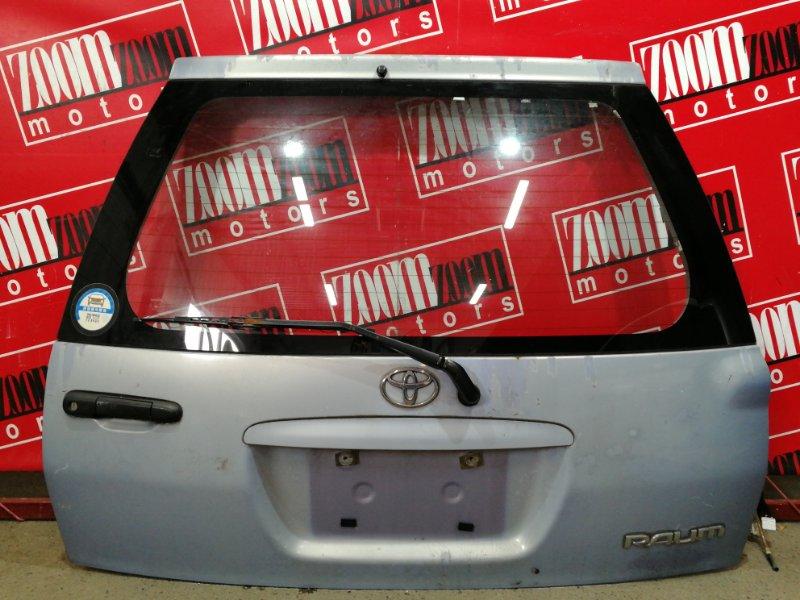 Дверь задняя багажника Toyota Raum EXZ10 5E-FE 1997 голубой