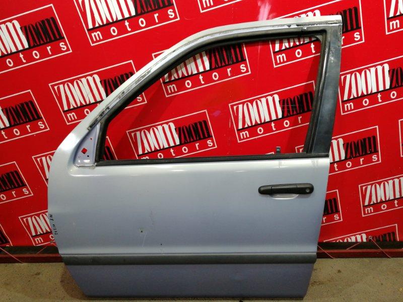 Дверь боковая Toyota Raum EXZ10 5E-FE 1997 передняя левая голубой