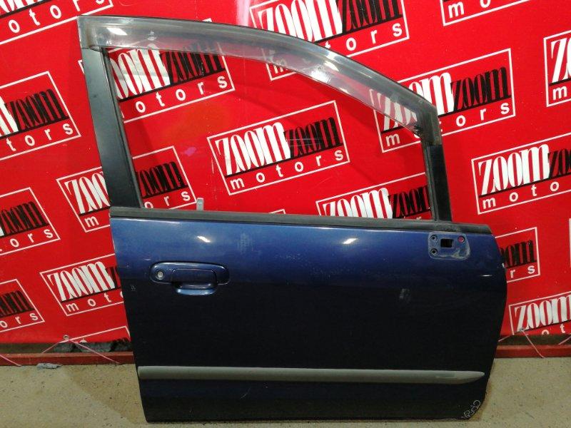 Дверь боковая Mazda Premacy CP8W FP-DE 1999 передняя правая синий