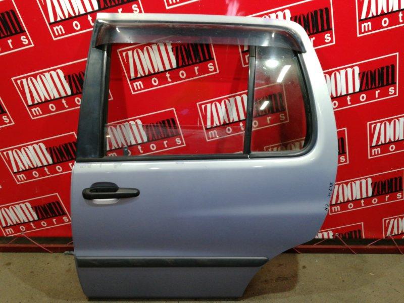 Дверь боковая Toyota Raum EXZ10 5E-FE 1997 задняя левая голубой