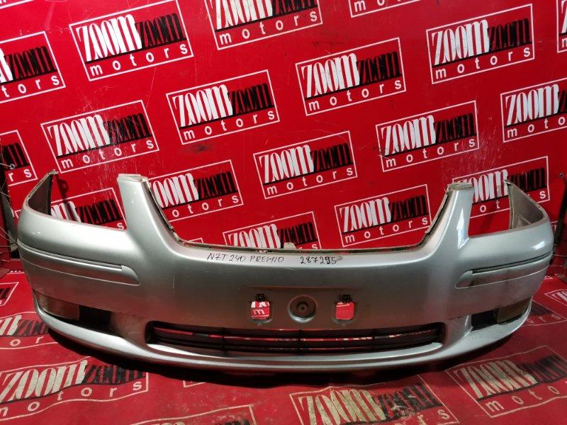 Бампер Toyota Premio NZT240 1NZ-FE 2001 передний серебро
