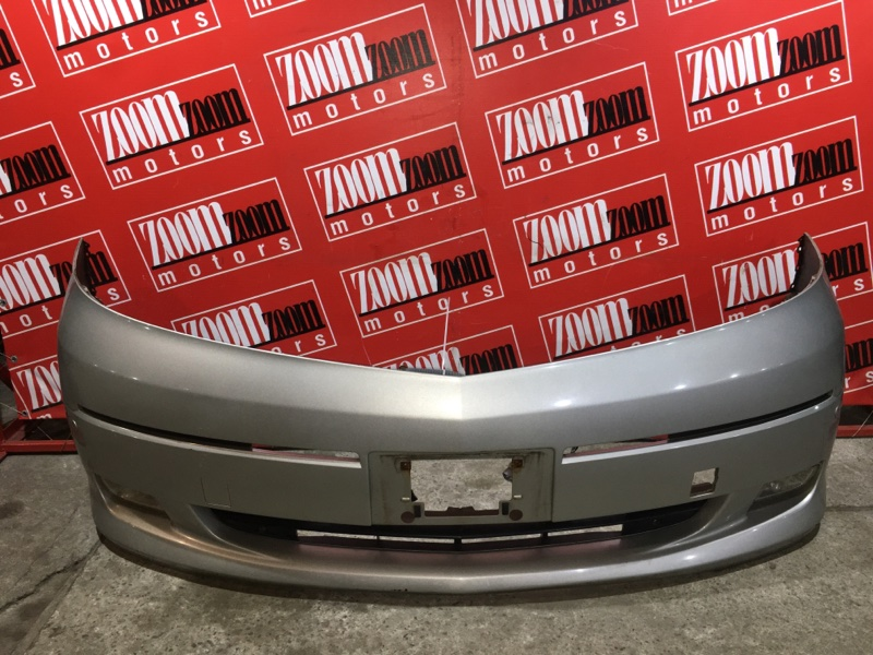 Бампер Toyota Alphard ANH10 2AZ-FXE 2002 передний серебро