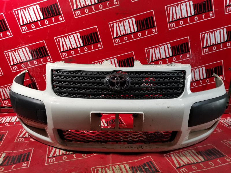 Бампер Toyota Succeed NLP51 1ND-TV 2002 передний белый перламутр