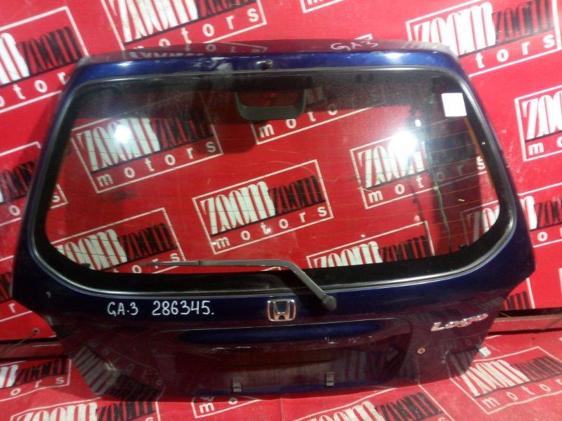Дверь задняя багажника Honda Logo GA3 D13B 2000 задняя синий