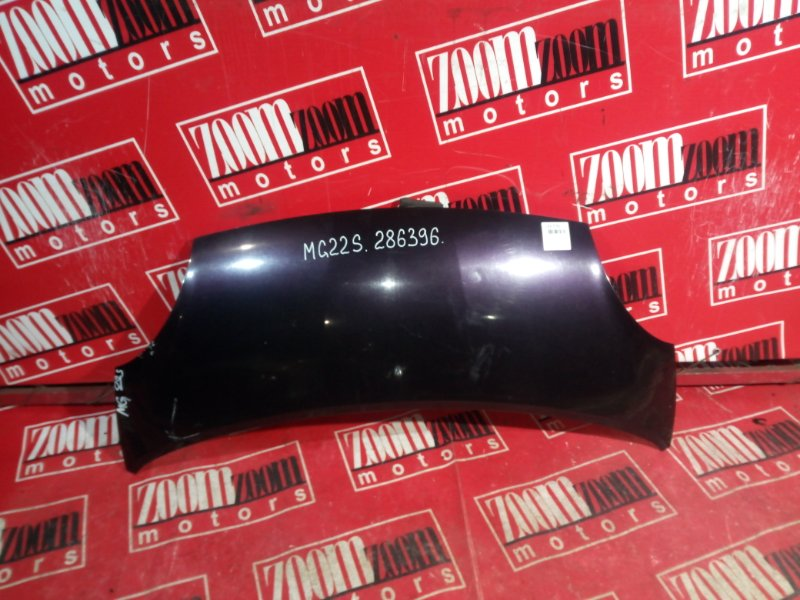 Капот Nissan Moco MG22S K6A 2006 передний фиолетовый
