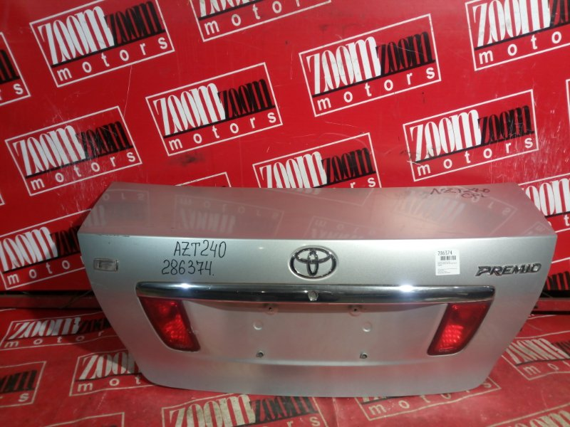 Крышка багажника Toyota Premio AZT240 1AZ-FSE 2001 задняя серебро