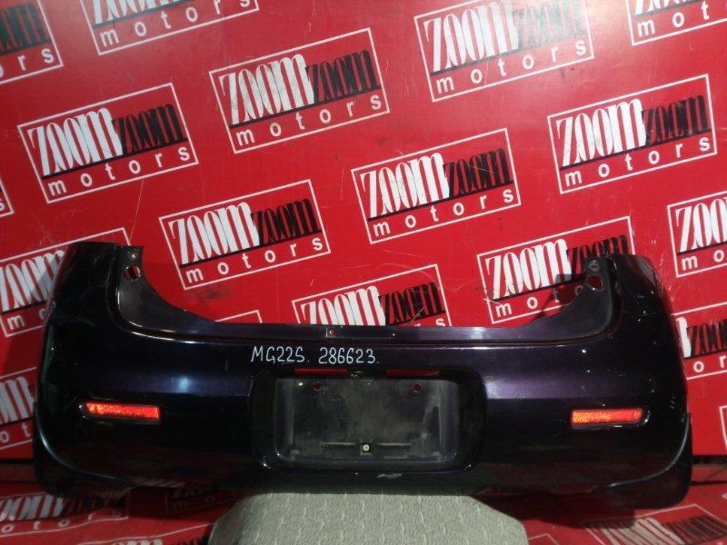 Бампер Nissan Moco MG22S K6A 2006 задний фиолетовый
