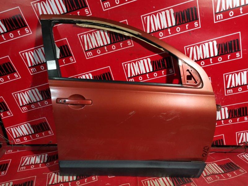 Дверь боковая Nissan Qashqai J10 MR20DE 2006 передняя правая оранжевый