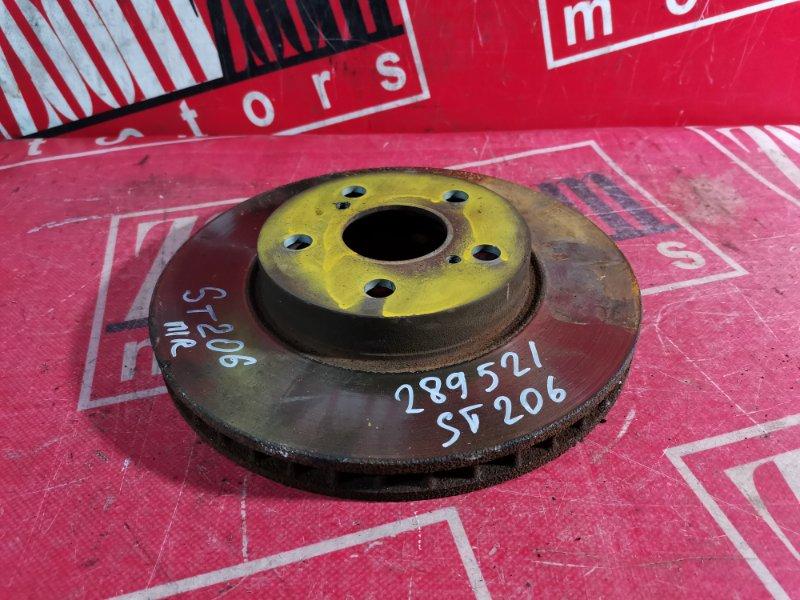 Диск тормозной Toyota Curren ST206 4S-FE 1993 передний