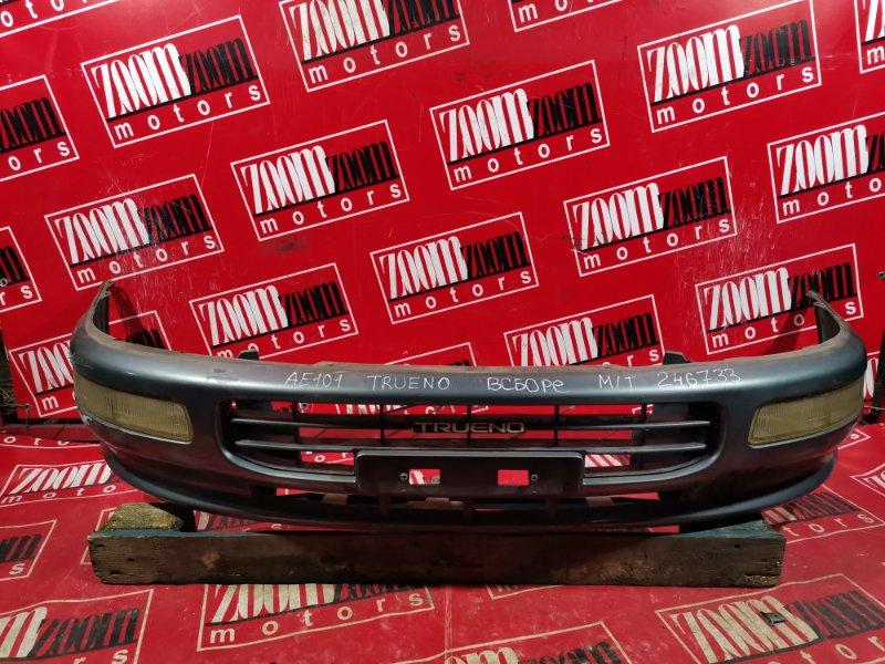 Бампер Toyota Sprinter Trueno AE101 4A-FE 1993 передний темно-серый