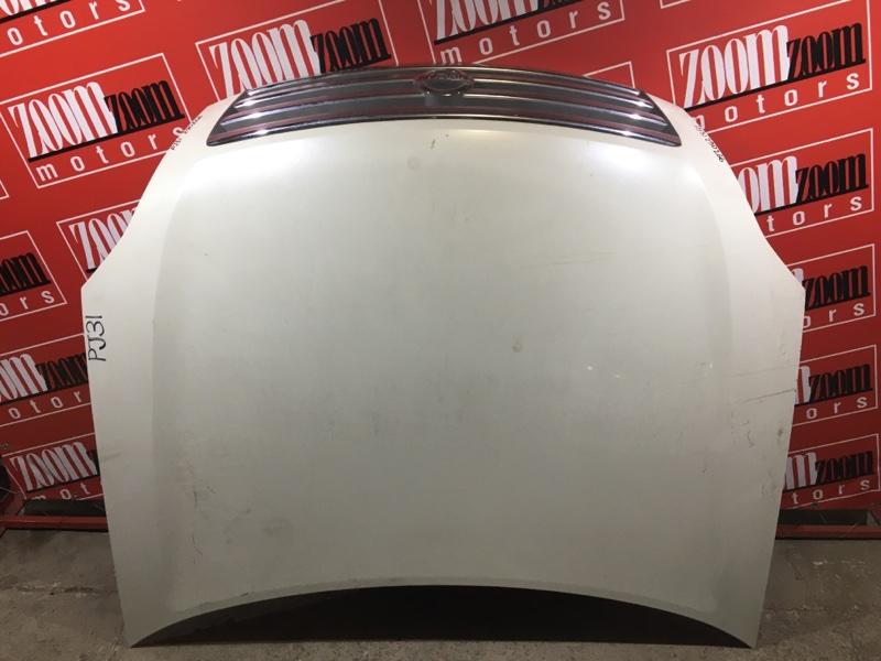 Капот Nissan Teana PJ31 VQ35DE 2003 белый перламутр