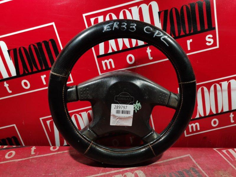 Руль Nissan Skyline ER33 RB25DE 1993 черный