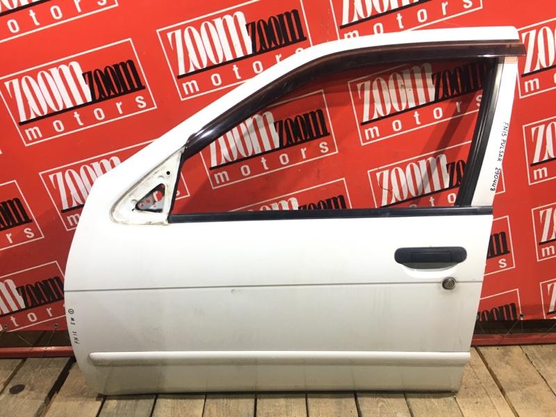 Дверь боковая Nissan Pulsar FN15 GA15DE 1995 передняя левая белый