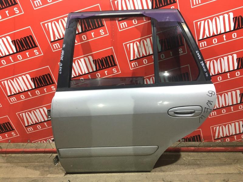 Дверь боковая Mazda Capella GWEW FS-DE 1999 задняя левая серебро