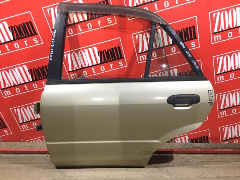 Дверь боковая Mazda Familia BJ3P B3 1998 задняя левая золото